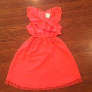 Coral pink summery occasion dress